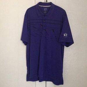 ⛳️ Adidas Pebble Beach Men's Purple Golf Polo - L